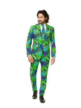 OppoSuits Juicy Jungle Men's Suit and Tie Set