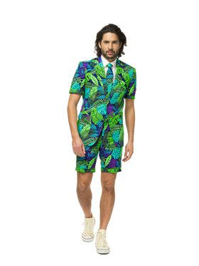 OppoSuits Juicy Jungle Men's Summer Suit and Tie Set