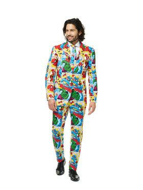 OppoSuits Marvel Comic Men's Suit and Tie Set