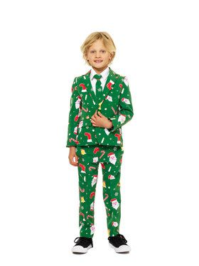 OppoSuits Santaboss Boy's Suit and Tie Set