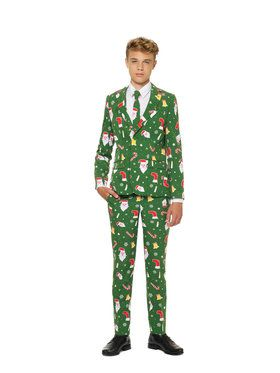 OppoSuits Santaboss Teen Boy's Suit and Tie Set