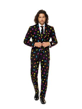 OppoSuits Tetris Men's Suit and Tie Set