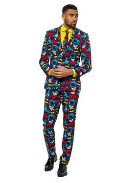 OppoSuits The Dark Knight Men's Suit and Tie Set