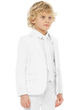 OppoSuits White Knight Boy's Suit and Tie Set