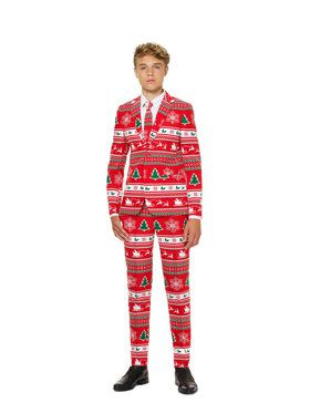 OppoSuits Winter Wonderland Teen Boy's Suit and Tie Set
