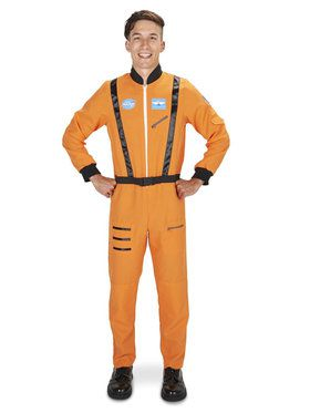 Orange Astronaut Adult Costume