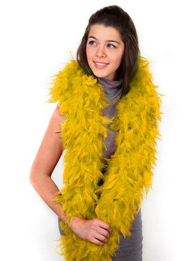 Women's Orange Feather Boa