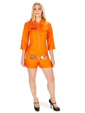 Orange Prisoner Jumpsuit Adult Costume