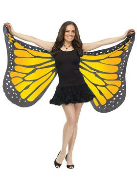 Orange Satin Adult Butterfly Wings