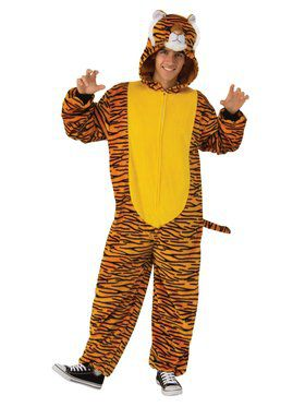 Orange Tiger Comfy Wear Adult Costume