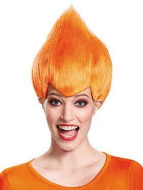 Orange Troll Adult Wig