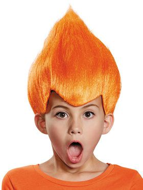 Orange Troll Child Wig