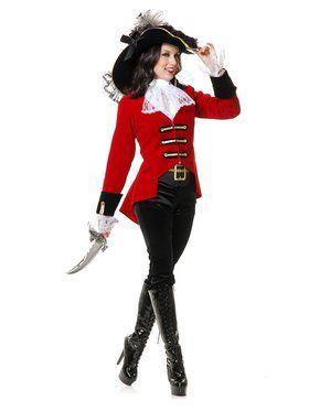 Page Boy Pirate Lady Adult Costume