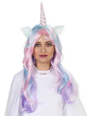 Adult Pastel Unicorn Wig