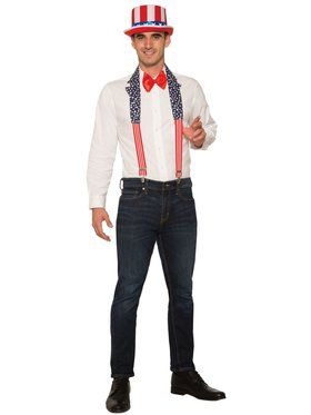 Patriotic Suspenders and Collar