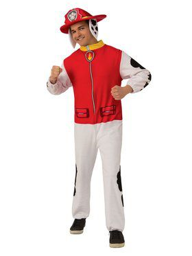 Paw Patrol Marshall Adult Jumpsuit Adult Costume