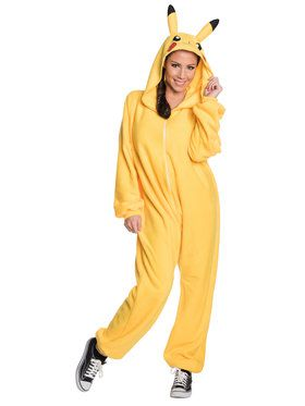 Pikachu Jumpsuit Costume Adult