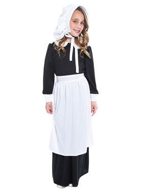 Pilgrim Girl Child Costume  sc 1 st  BuyCostumes.com : girls colonial costumes  - Germanpascual.Com