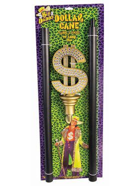 Pimp Cane w/Dollar Sign