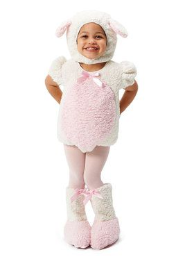 Pink and White Lamb Toddler Costume