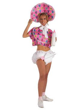 Pink Baby Doll Adult Costume
