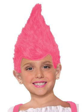 Pink Child Fuzzy Wig