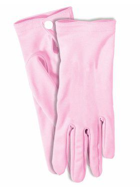 Pink Short Gloves