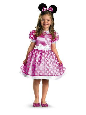 Child Classic Pink Minnie Mouse Costume