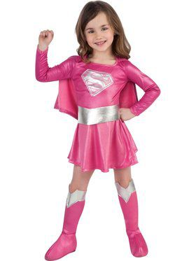 Pink Supergirl Toddler/Child Costume