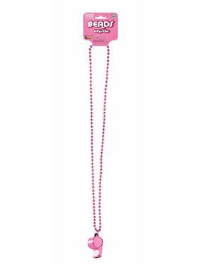Pink Whistle Beaded Necklace Set
