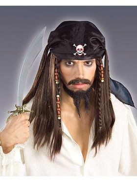 Pirate Costume Wig for Adults