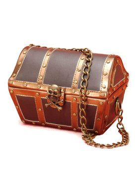 Pirate Chest Costume Handbag Accessory