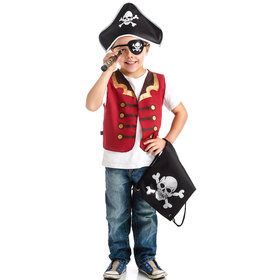 Pirate Drawstring Backpack Dress Up Set