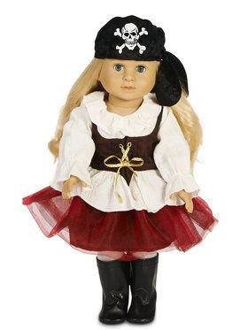 "Pirate Tutu 18"" Doll Costume"