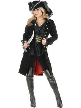 Adult Pirate Vixen Coat
