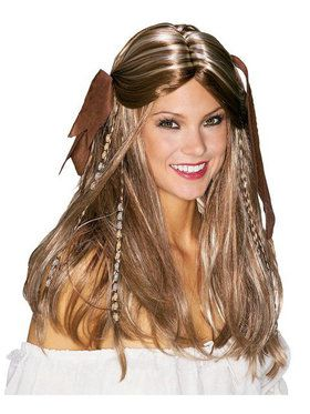 Pirate Wench Costume Wig for Adults