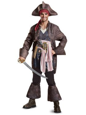 Pirates of the Caribbean 5: Captain Jack Adult Deluxe Costume