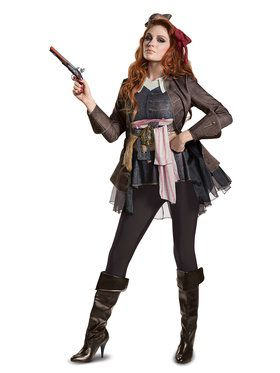 Pirates of the Caribbean 5: Captain Jack Deluxe Female Adult Costume