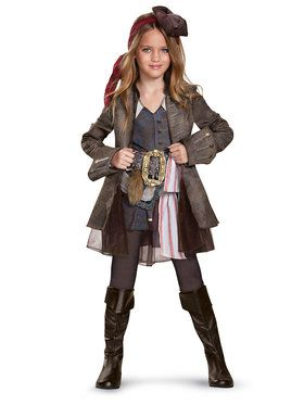 Caribbean 5: Captain Jack Deluxe Girl Child Costume