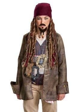 Pirates of the Caribbean 5: Goatee Mustache Adult One-Size