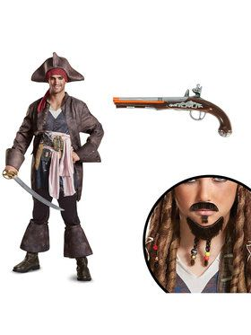 Pirates of the Caribbean Captain Jack Deluxe Adult Costume Kit