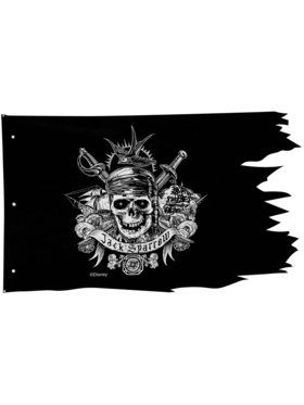 Pirates of the Caribbean Dead Men Tell No Tale Hanging Wall Flag Decoration