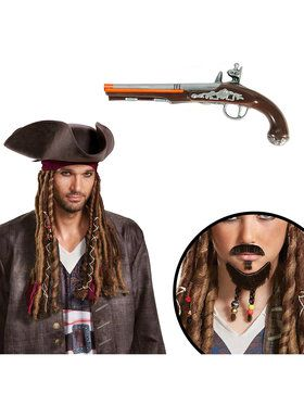 Pirates of the Caribbean Adult Jack Sparrow Accessory Kit