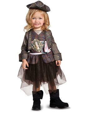 Pireates of the Caribbean 5: Captain Jack Inspired Tutu Classic Toddler Costume 2T