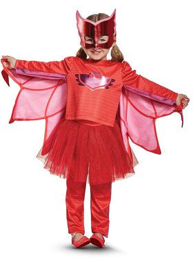 PJ 2018 Halloween Masks Owlette Toddler Prestige Tutu Costume