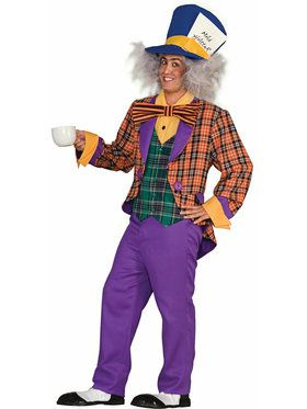 Plaid Mad Hatter Adult Costume