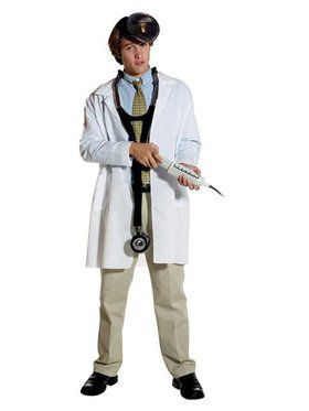 Plain Lab Coat Adult Costume