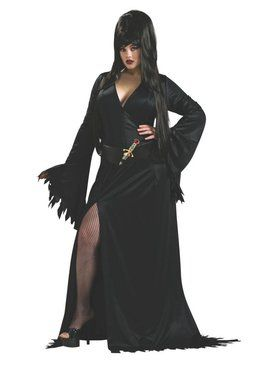 Plus Size Adult Elvira Adult Costume