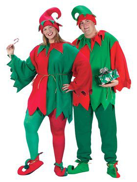 Plus Size Economy Elf Set Costume