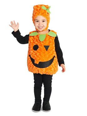 Plush Belly Pumpkin Child Costume